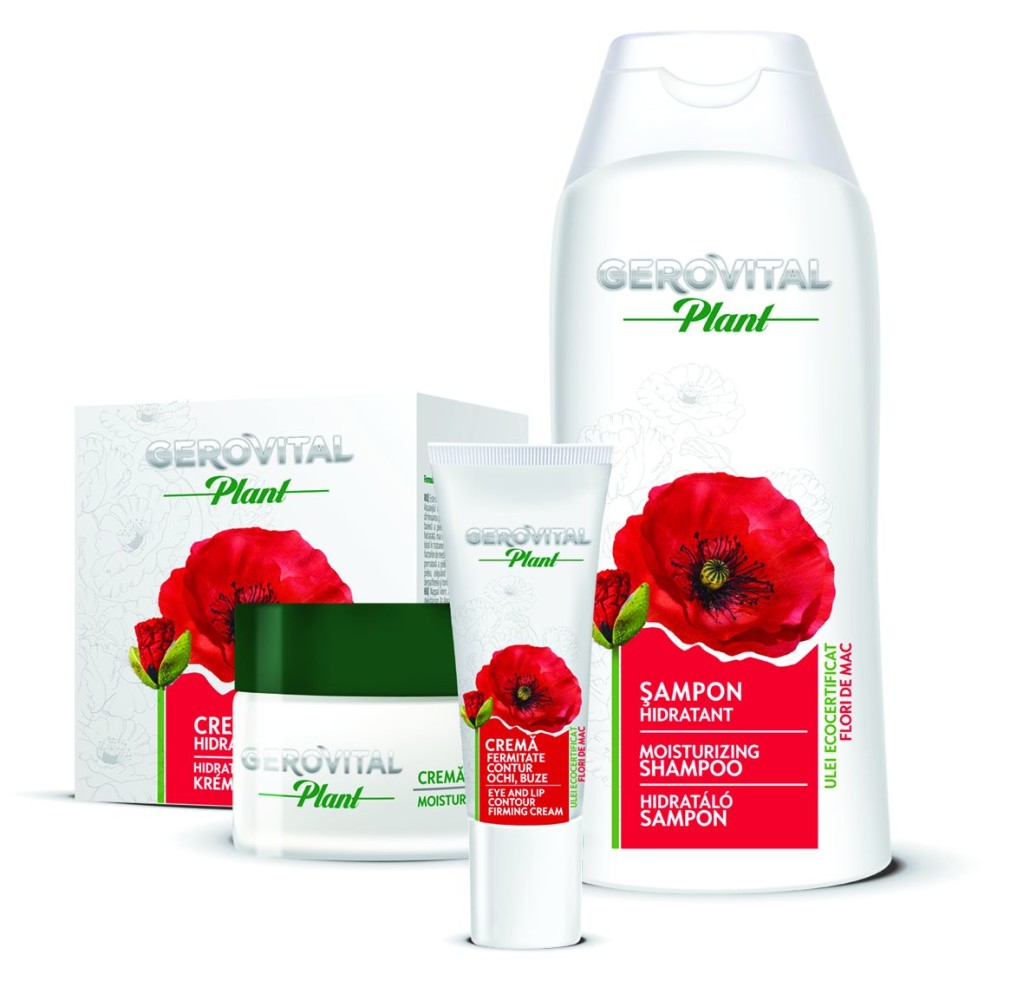 Gerovital Plant range with Poppy Flowers organic oil