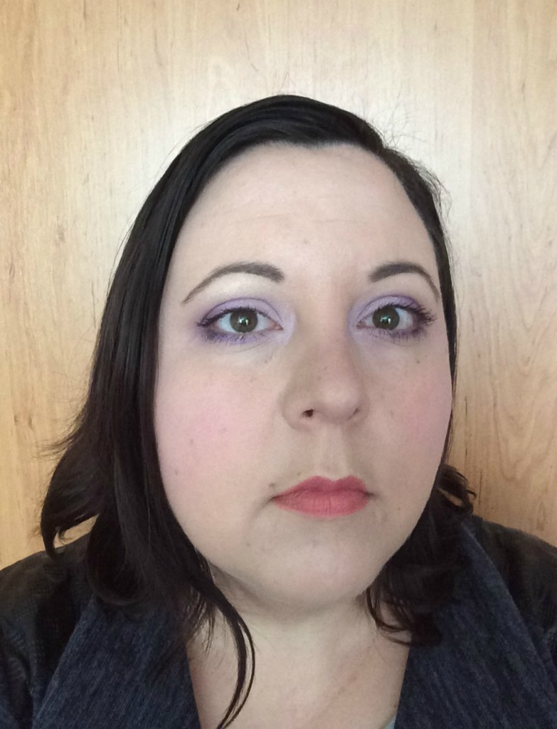 Spring lilac make-up look4