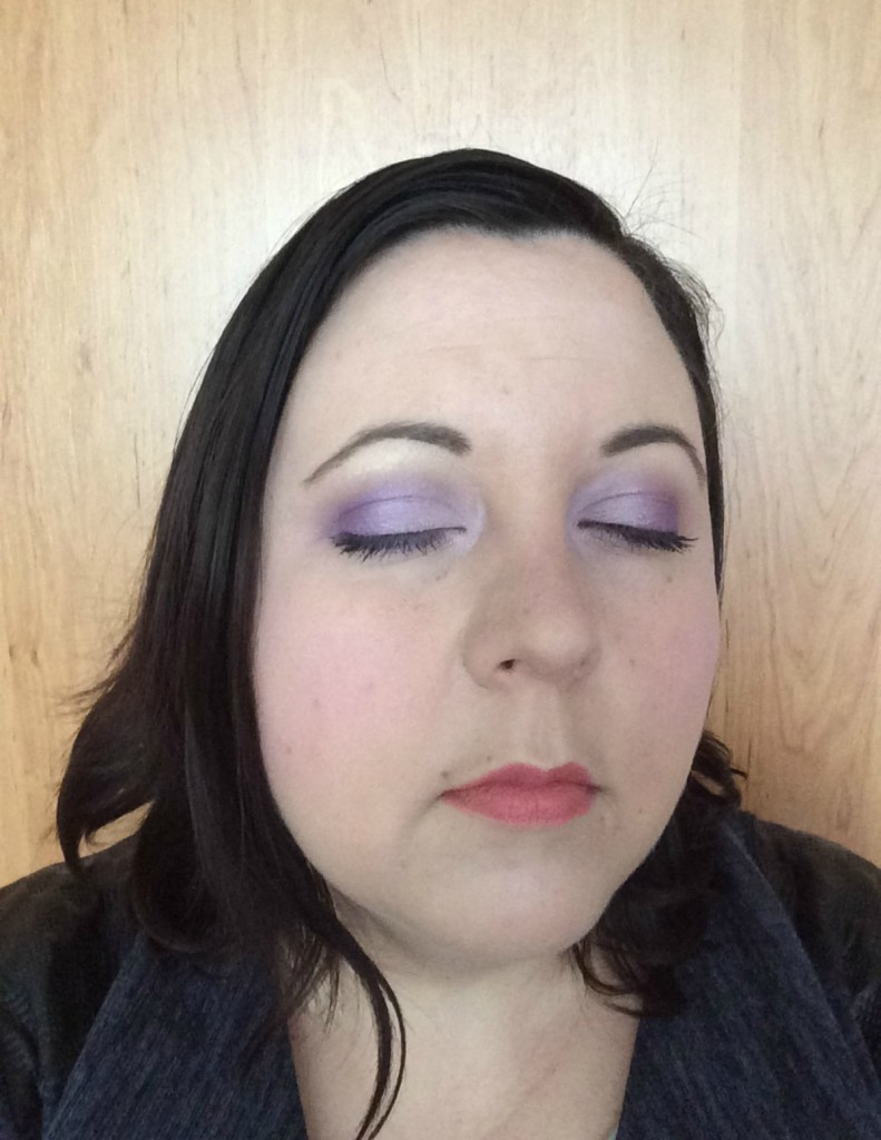 Spring lilac make-up look5